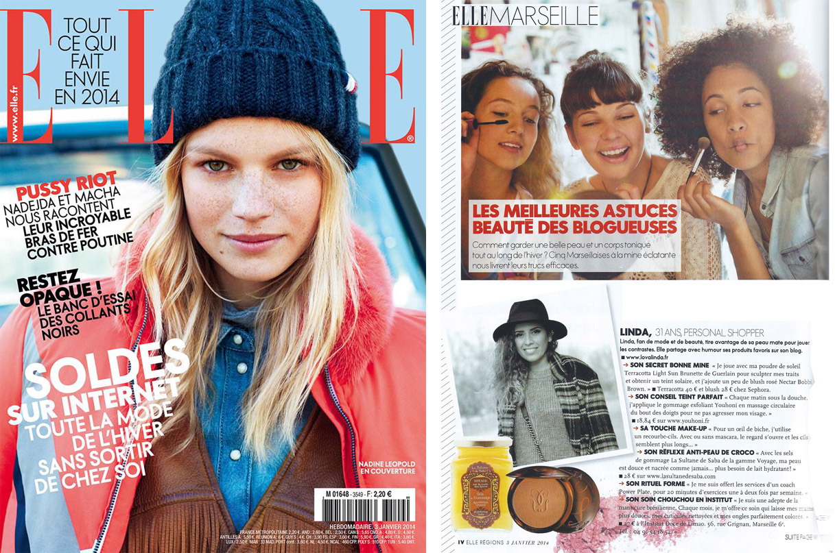 Elle Janvier 2014 article