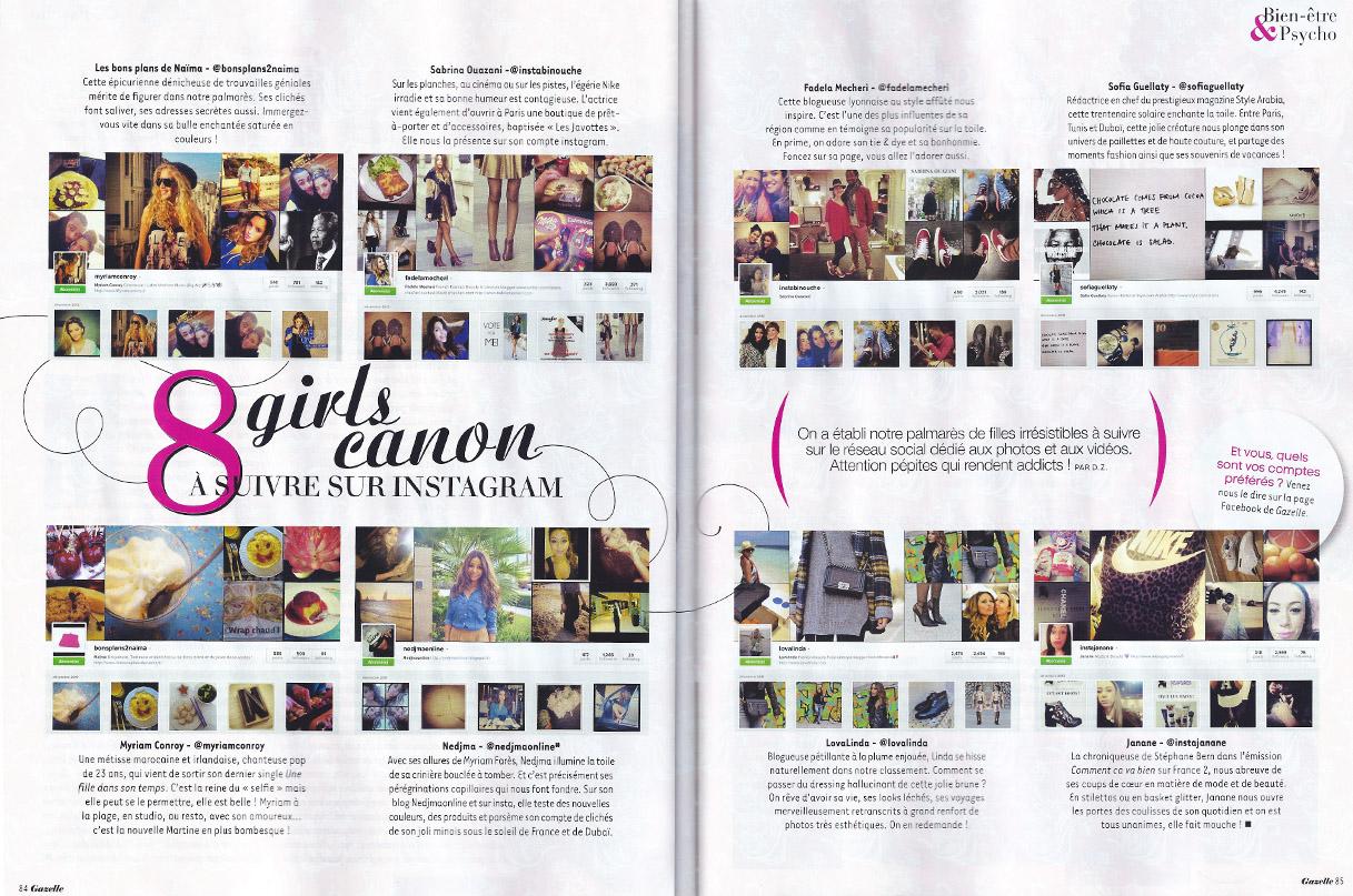 Gazelle Janvier 2014 article