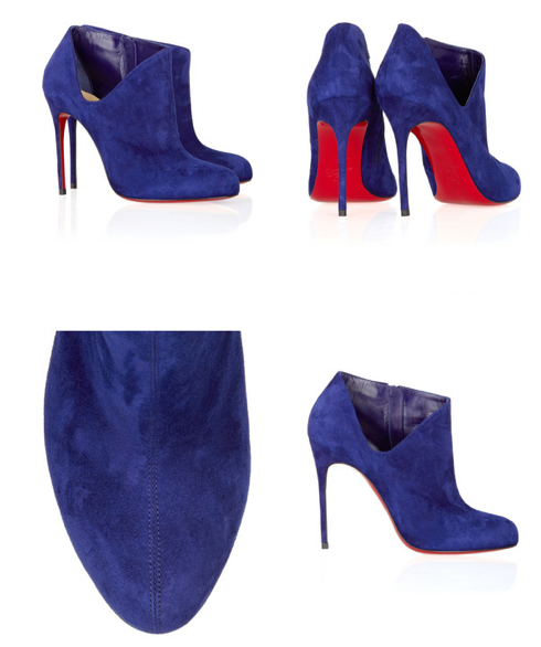 Louboutin 2011 Lisse 100 suede ankle boots
