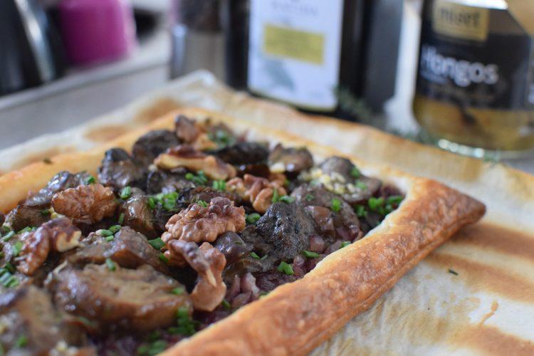 La tarte Cèpes & Noix | LovaLinda | Blog Cuisine Recettes Entrée Plat | Photographie