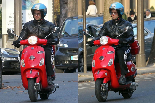 Bradley Cooper Paris Scooter