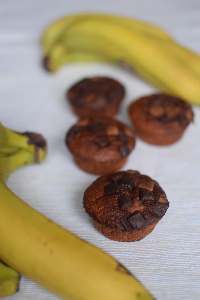 Les muffins à la banane et chocolat | LovaLinda | Blog Cuisine Recettes Dessert
