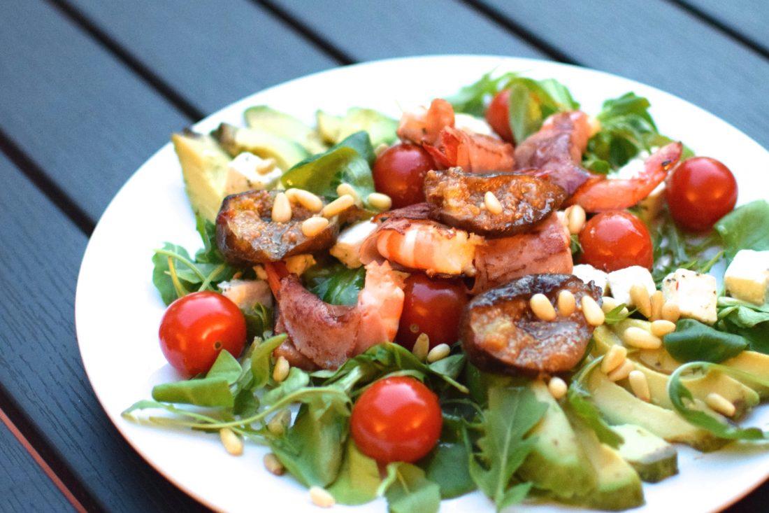 La salade de gambas | LovaLinda | Blog Cuisine Recettes Entrée Plat Salade | Photographie