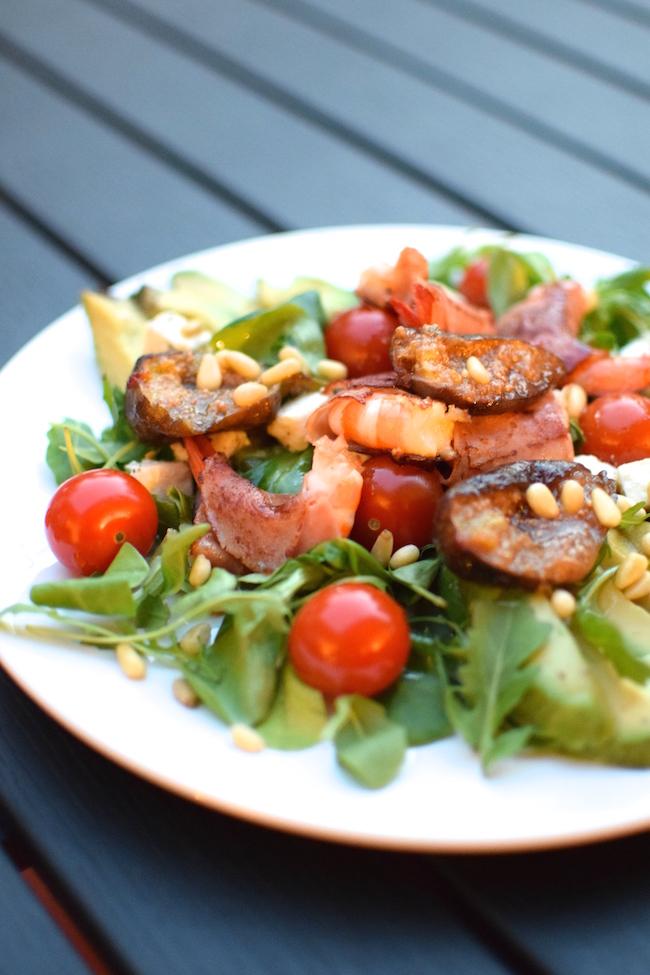 La salade de gambas | Salade des Opposés | LovaLinda | Blog Cuisine Recettes Entrée Plat Salade | Photographie