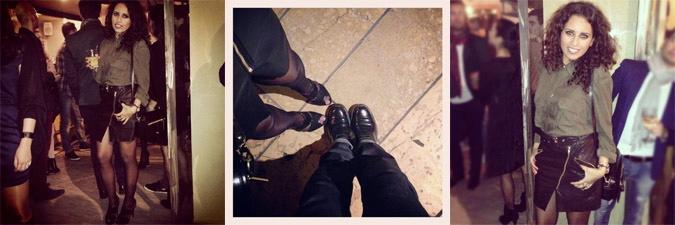 LovaLinda x The Kooples Leather Skirt