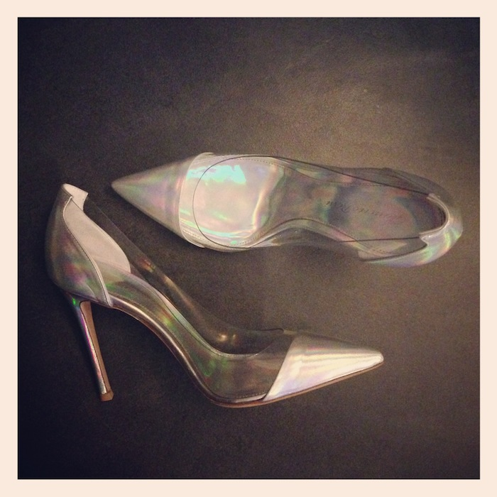 Lovalinda x Gianvito Rossi x PVC x Leather Pumps