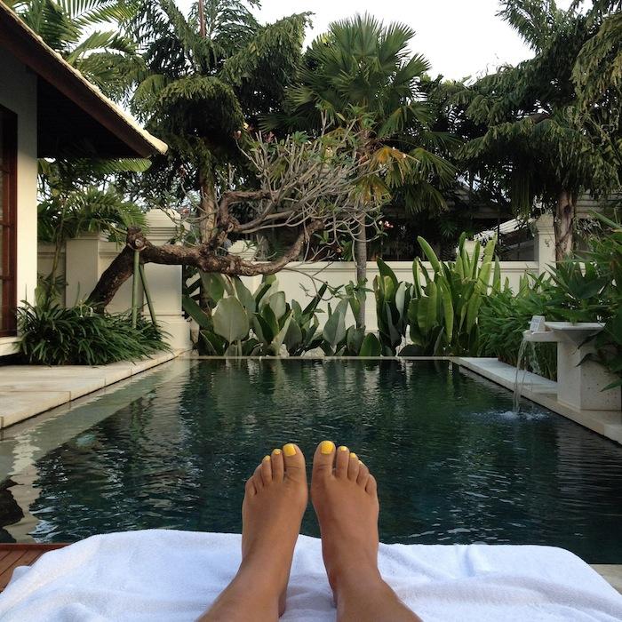 LovaLinda Bali RoyalSantrian Villa Feet