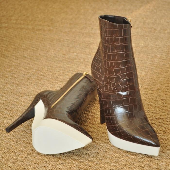 LovaLinda Croc effect Lauren boots Stella Mc Cartney
