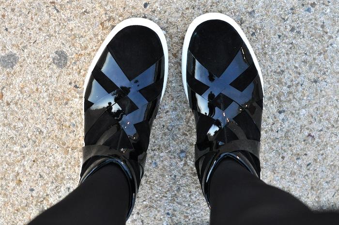 LovaLinda x Alejandro Ingelmo x Black Suede_patent Thriller Sneakers