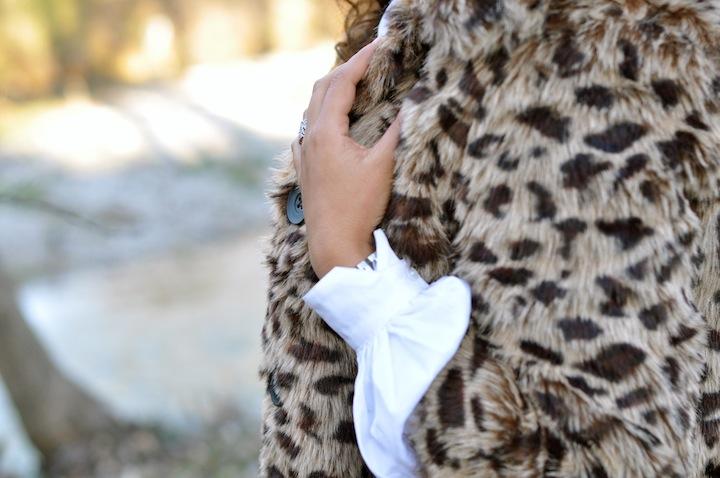 Leopard des bois - LovaLinda - NastyGal Jacket x Karl Shirt