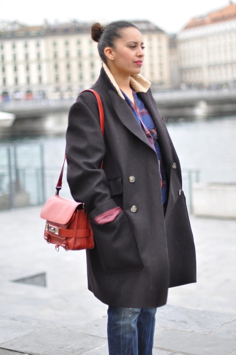 Les carreaux 60's ⎪ Lovalinda ⎪PS11 Proenza Schouler x Coat Carven x Jeans Dsquared x Shirt Zara