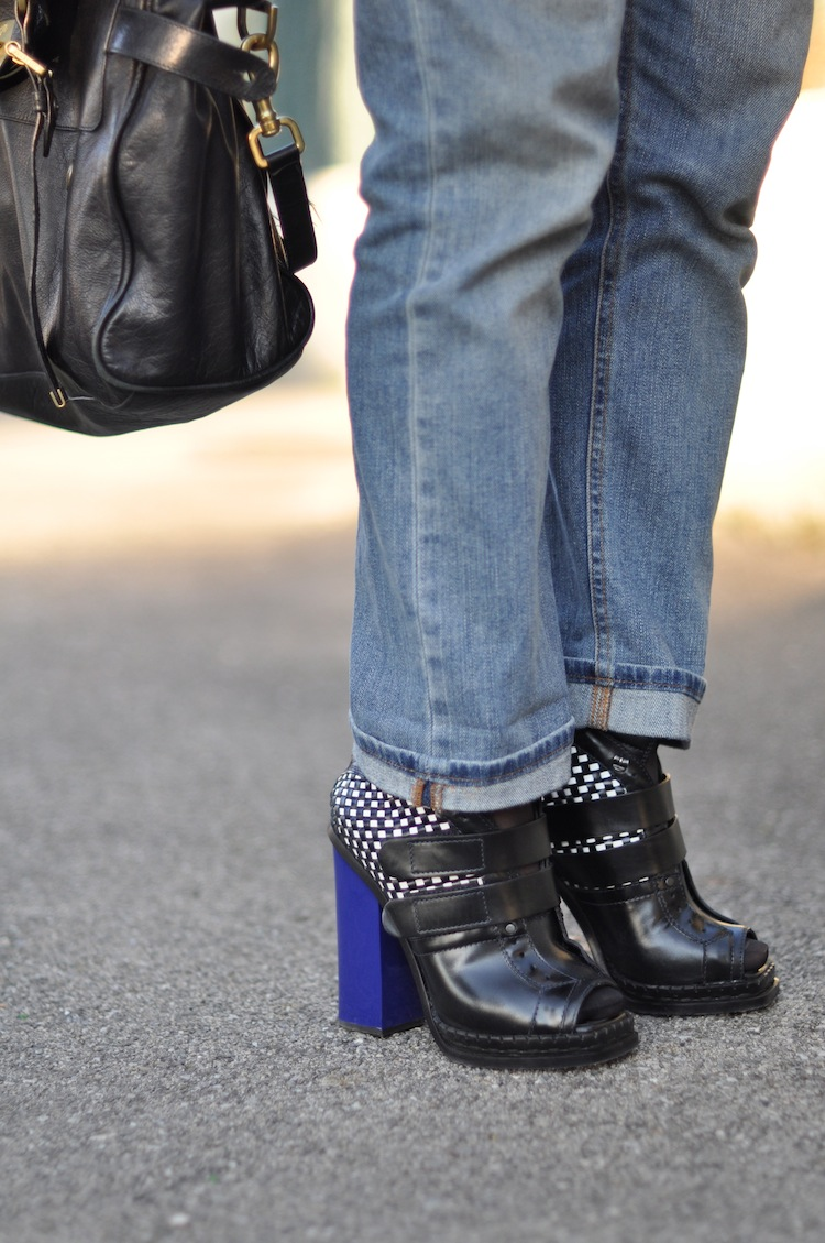 LovaLinda ⎪ Le Perfecto Moutonné⎪ Proenza Schouler Boots x Gucci Boyfriend x Mulberry Alexa Bag