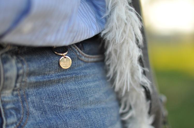 LovaLinda ⎪ Le Perfecto Moutonné⎪Isabel Marant Rejane Biker Coat x Asos Shirt x Gucci Boyfriend