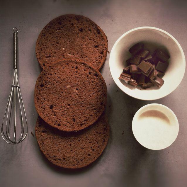 génoise et mousse au chocolat par Julia