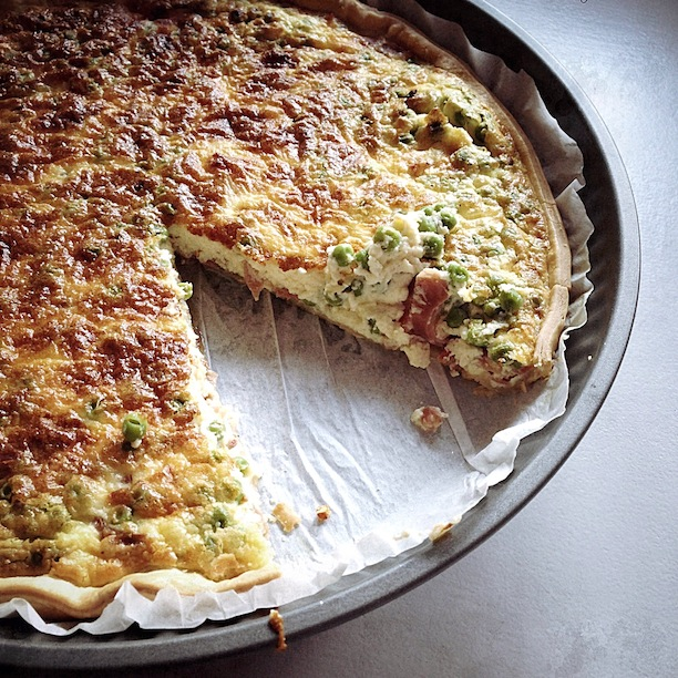 La quiche mascarpone jambon et petits pois by Julia Vale M for LovaLinda