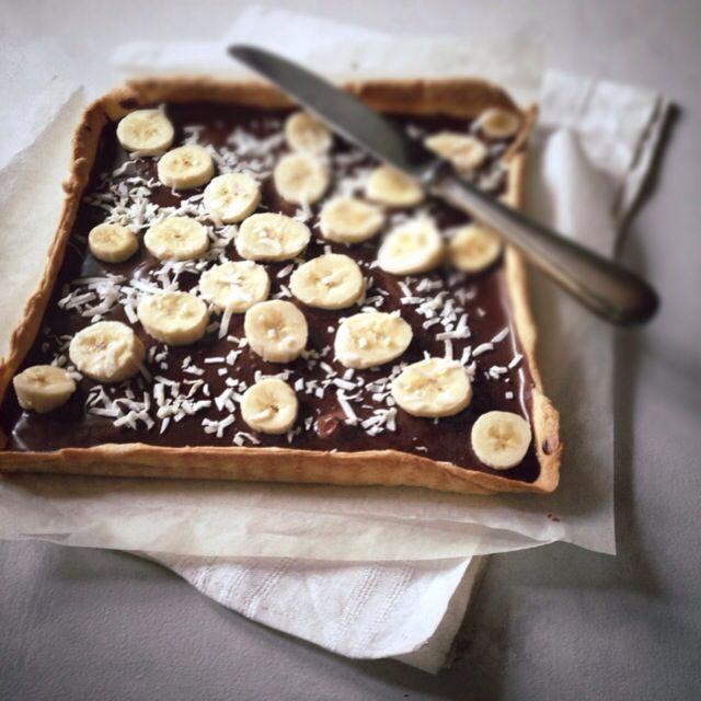 La tarte au chocolat et banane par Julia Vale M