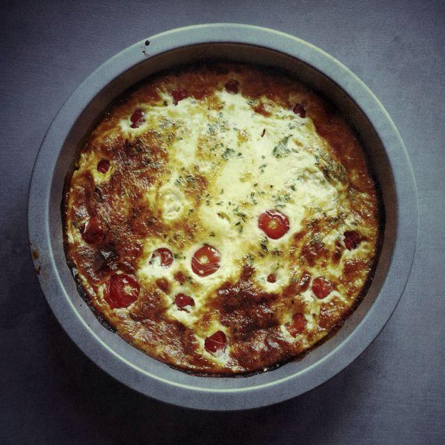Le clafoutis tomates fêta par Julia Vale M
