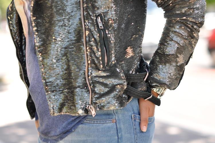 L'alu pleine peau - LovaLinda - Iro 'Derick' sequined biker jacket
