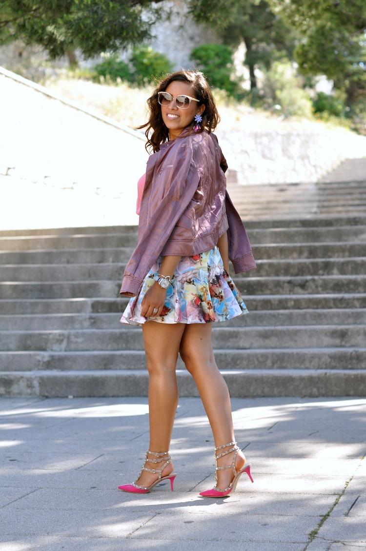 Le 200 tu aimes - LovaLinda - Asos x Zara x Sandro x Valentino RockStuds x Carven Print Skirt x Chloé Sunglasses