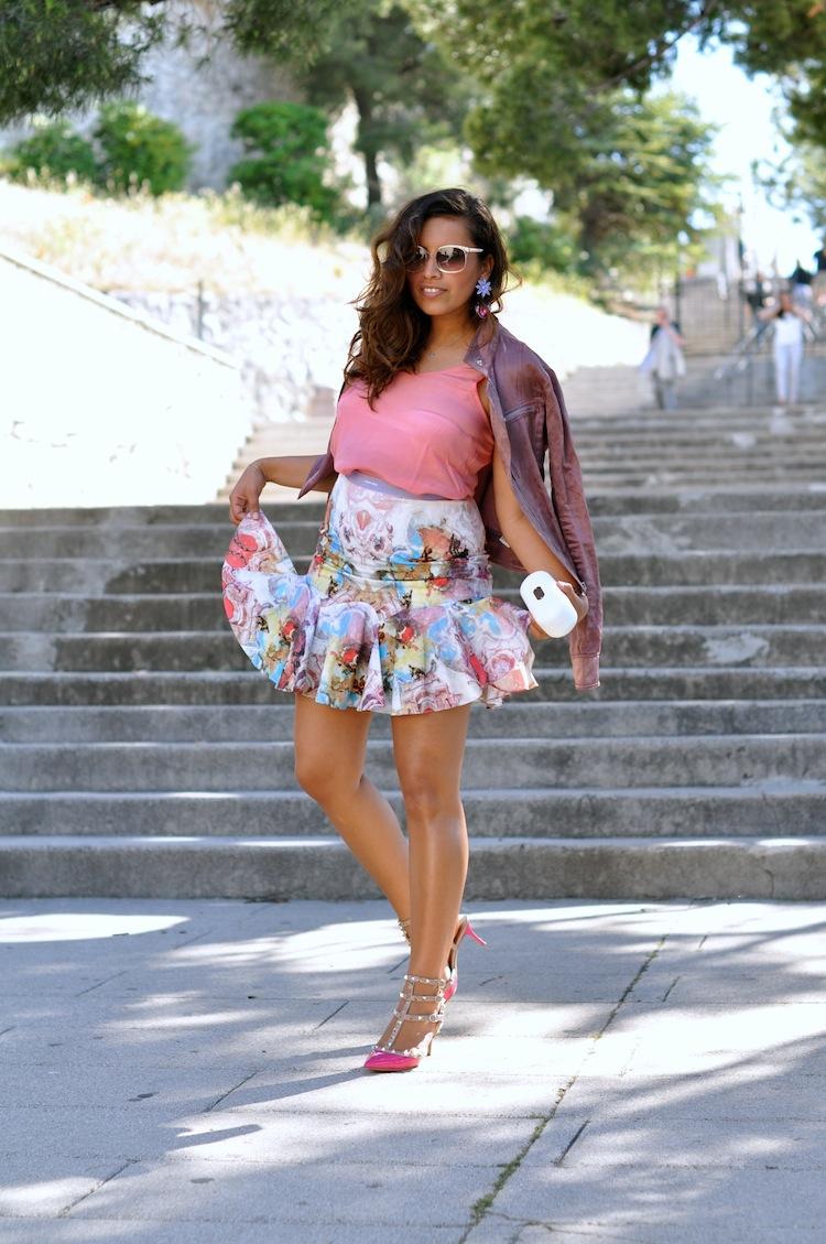 Le 200 tu aimes - LovaLinda - Asos x Zara x Sandro x Valentino RockStuds x Carven Print Skirt