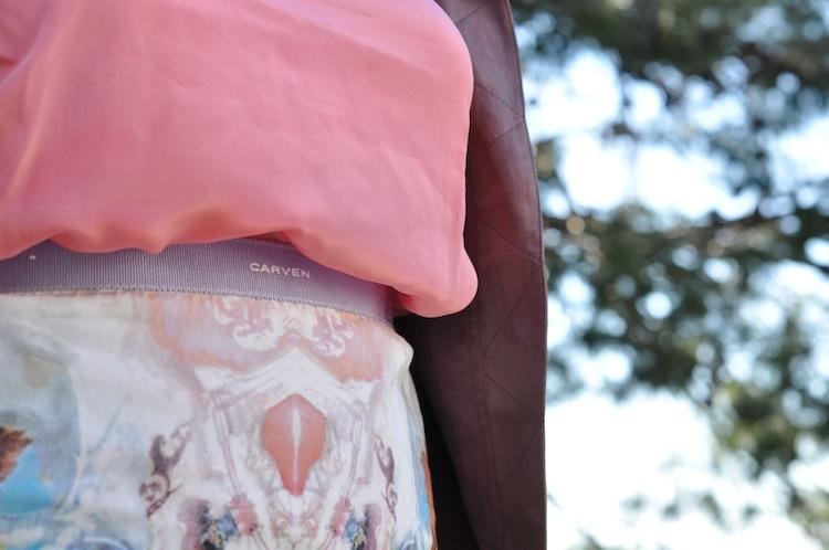 Le 200 tu aimes - LovaLinda -Carven Skirt x Sandro Silk Top x Zara Silk Jacket