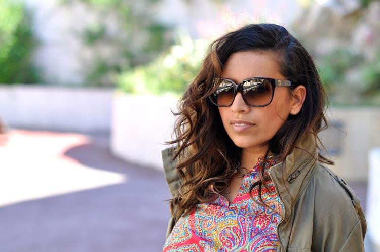 Le paisley sous parka - LovaLinda - H&M Parka x Emmanuelle Khanh Sunglasses