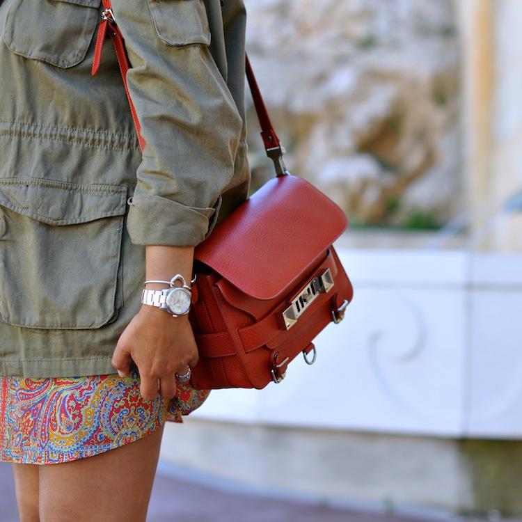 Le paisley sous parka - LovaLinda - Proenza Schouler PS11 x H&M Parka x Carven Skirt