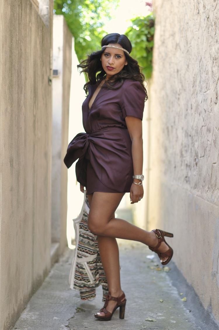Luxe bohemian - LovaLinda - IsabelMarant Dress x Lerre Sandals x Zara Headband