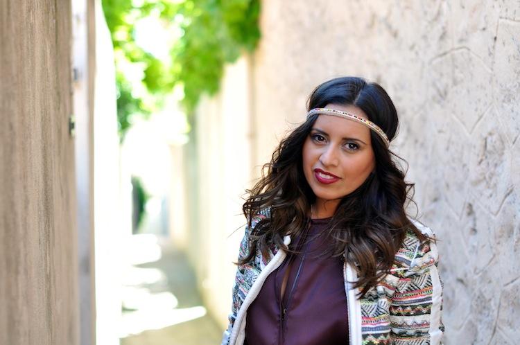 Luxe bohemian by LovaLinda - Iro Elomi Jacket x IsabelMarant Dress x Zara Headband