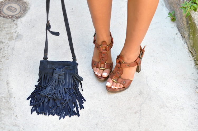 Luxe bohemian by LovaLinda - Lerre Sandals x Zara Bag