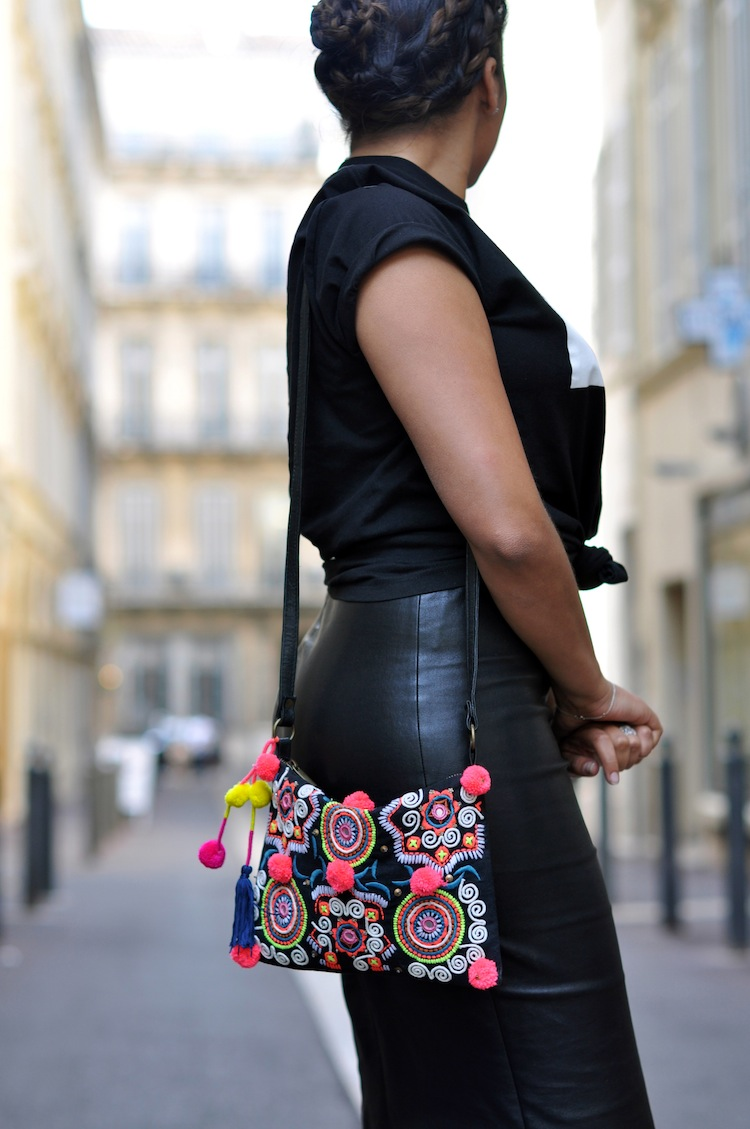 Conflit d'interet - Lovalinda x COI_NYC Ballinciaga Tee x Stouls Leather Skirt x Asos Clutch