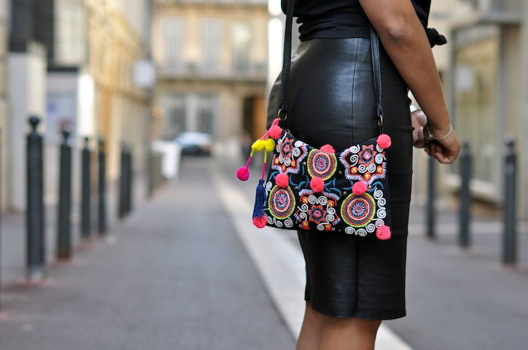 Conflit d'interet - Lovalinda x Stouls Leather Pencil Skirt x Asos Clutch