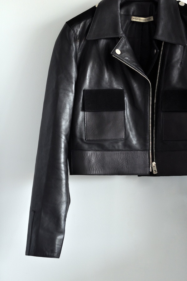 Le blouson biker | LovaLinda x Balenciaga x Leather and Suede Biker Jacket