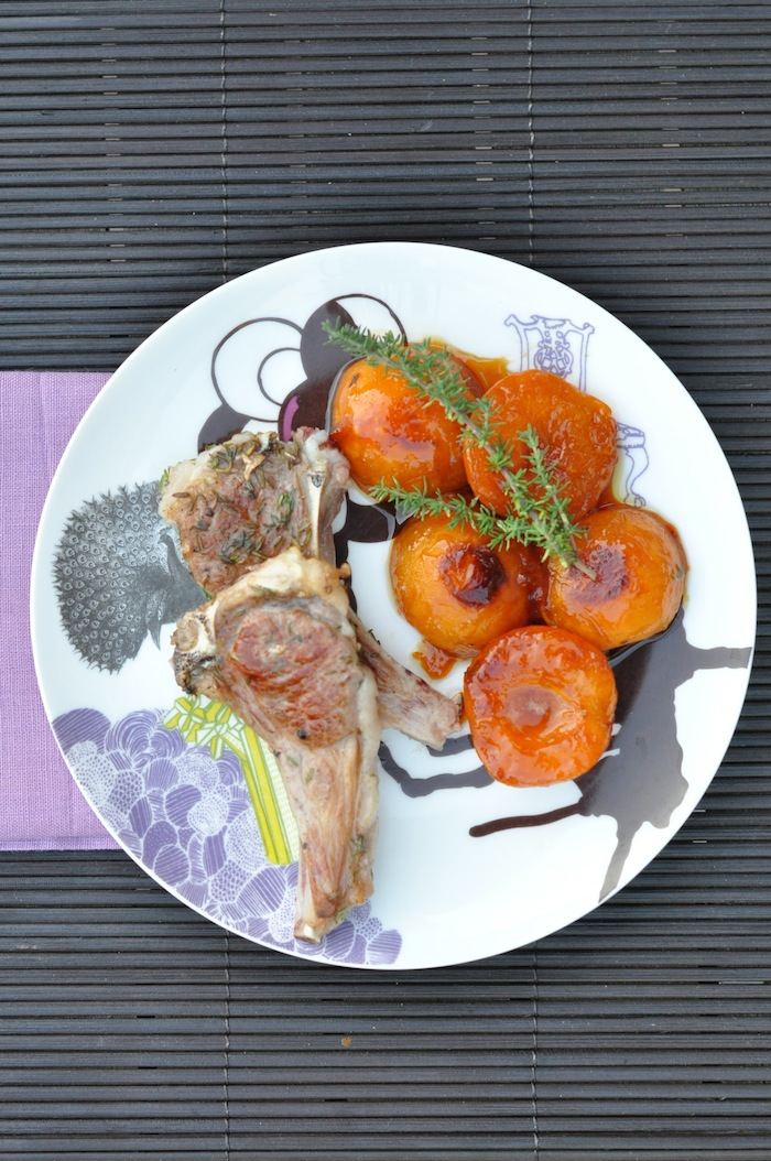 Les côtelettes d'agneau et abricots au thym | LovaLinda Recipe