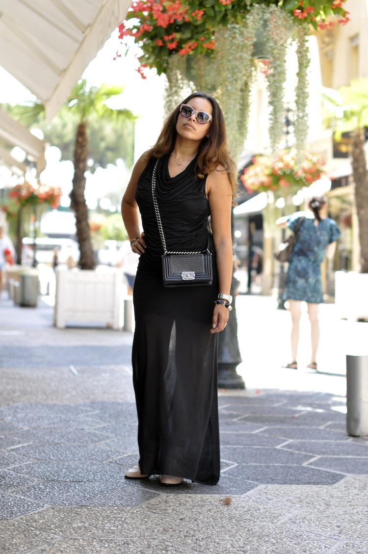 L'urban bohemian | LovaLinda x HelMut Lang Drapped Jersey Dress x Chanel x Thierry Lasry x Susanna Chloé x NastyGal Bang