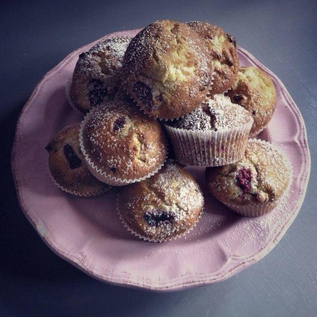 Les muffins aux framboises et chocolat blanc | LovaLinda x Cuisine x Julia Vale Marchier