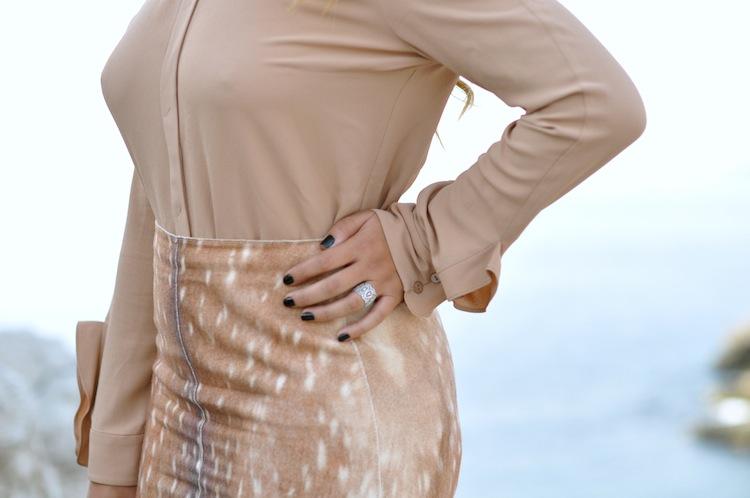 La biche oh ma biche   LovaLinda x Carven Bambi Skirt and Crepe Shirt Heart Collar