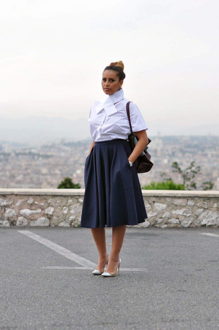 La tenue monacale | LovaLinda x Carven x Full Skirt Asos x Gianvito Rossi x All Soft Céline