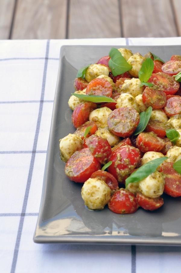 La tomates-mozza au pesto | Lovalinda x Cuisine x Entrée