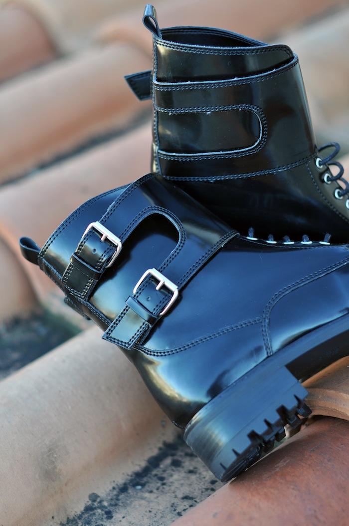 Les rangers j'ai dit oui | LovaLinda x Zara Bottines à lacets et semelle crantée