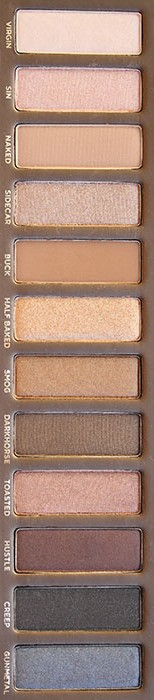 Naked palette-colours