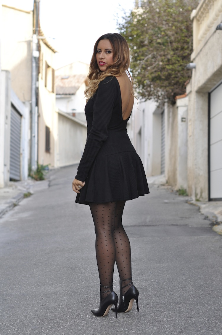 La miligirly | LovaLinda x Gianvito Rossi Boots x H&M Tights x Scoop-back ribbed cotton dress Kenzo