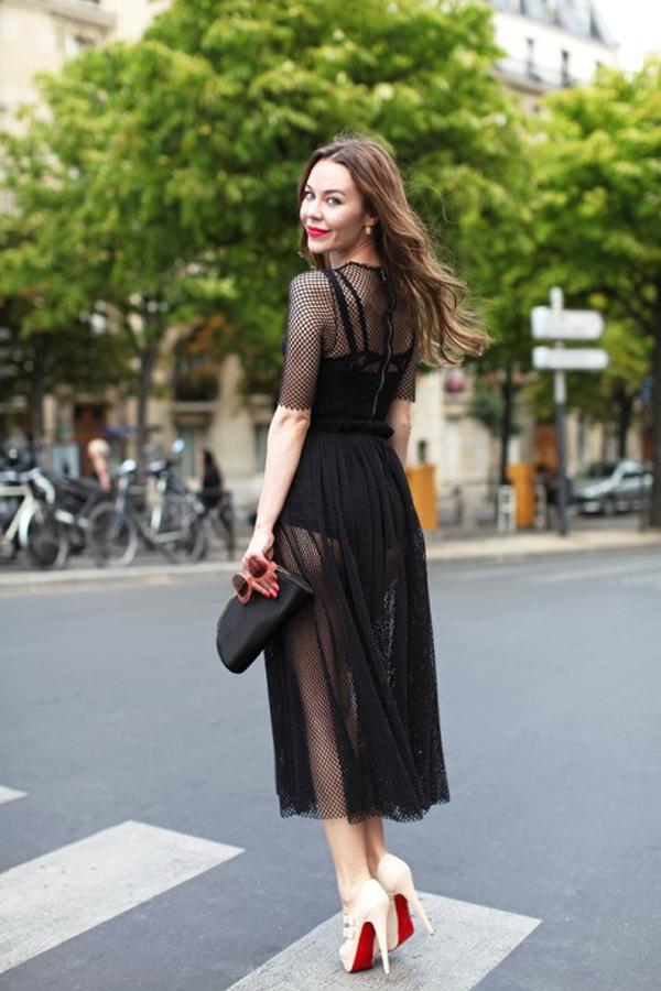 La petite robe noire | LovaLinda x AngelFoodStyle x Robe Ajourée x Black Dress Street-style