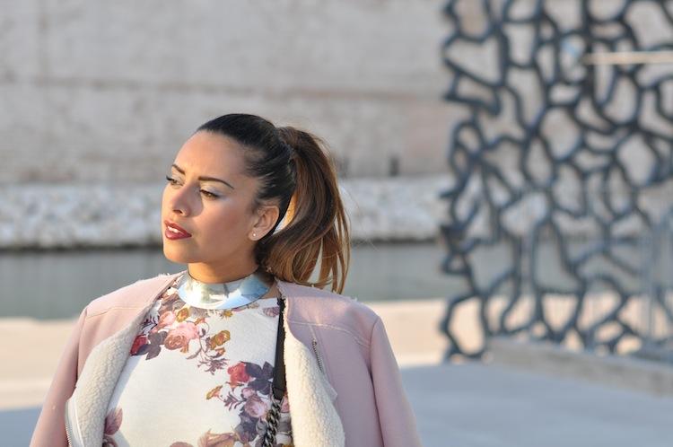 La pom fleurie | LovaLinda x TopShop Jacket x Zara Dress