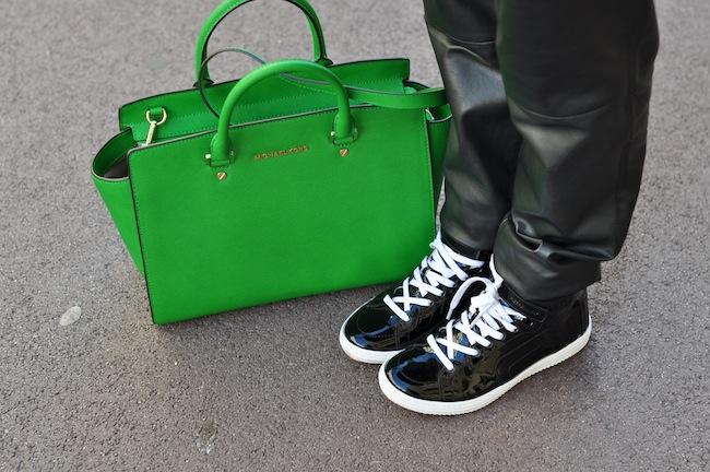 Le léopard se met au vert | LovaLinda x StreetStyle x Pierre Hardy Sneakers x Michael Kors Selma Bag