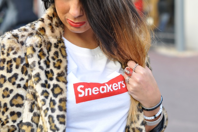 Le léopard se met au vert | LovaLinda x StreetStyle x Zara Leopard Coat x Sneakers Tee