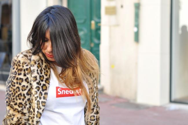 Le léopard se met au vert | LovaLinda x StreetStyle x Zara Leopard Coat