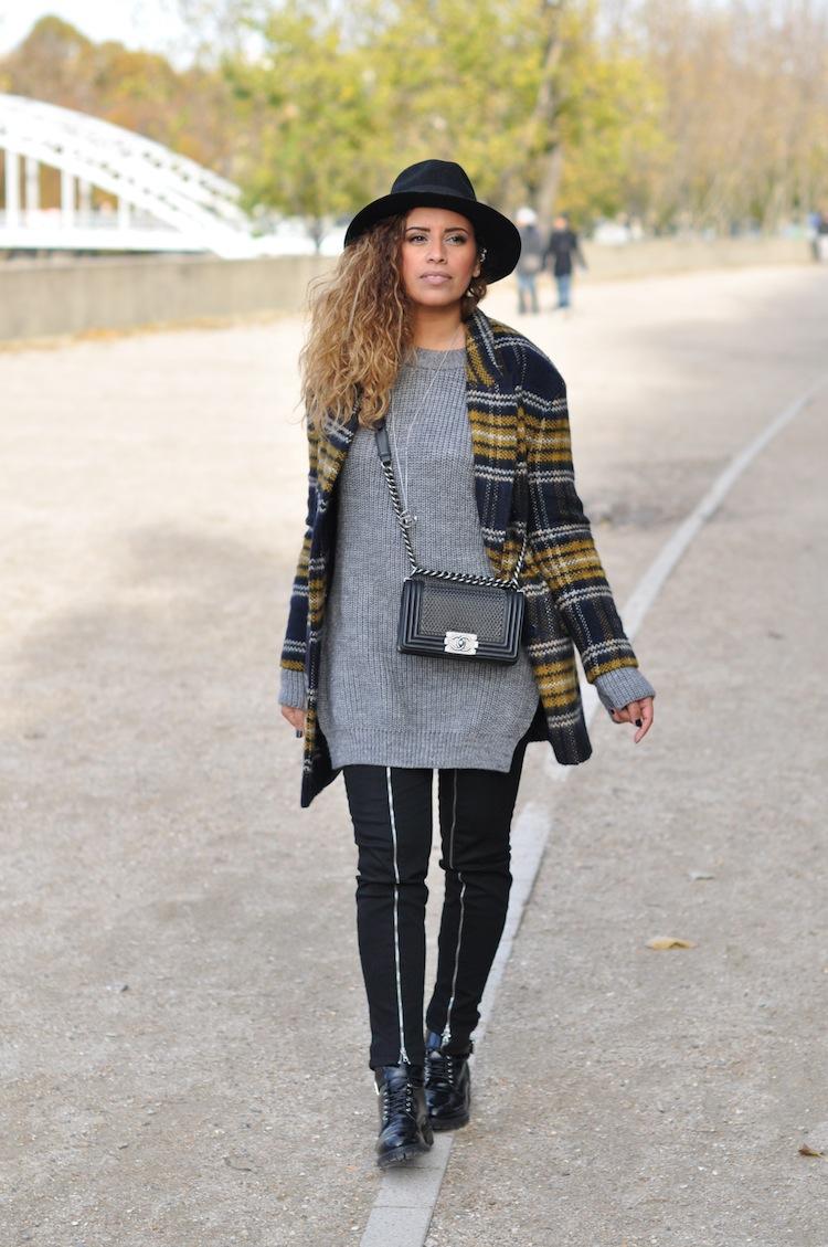 Le plaid coat | LovaLinda x Zara x J Brand x Chanel x Morgan x Asos