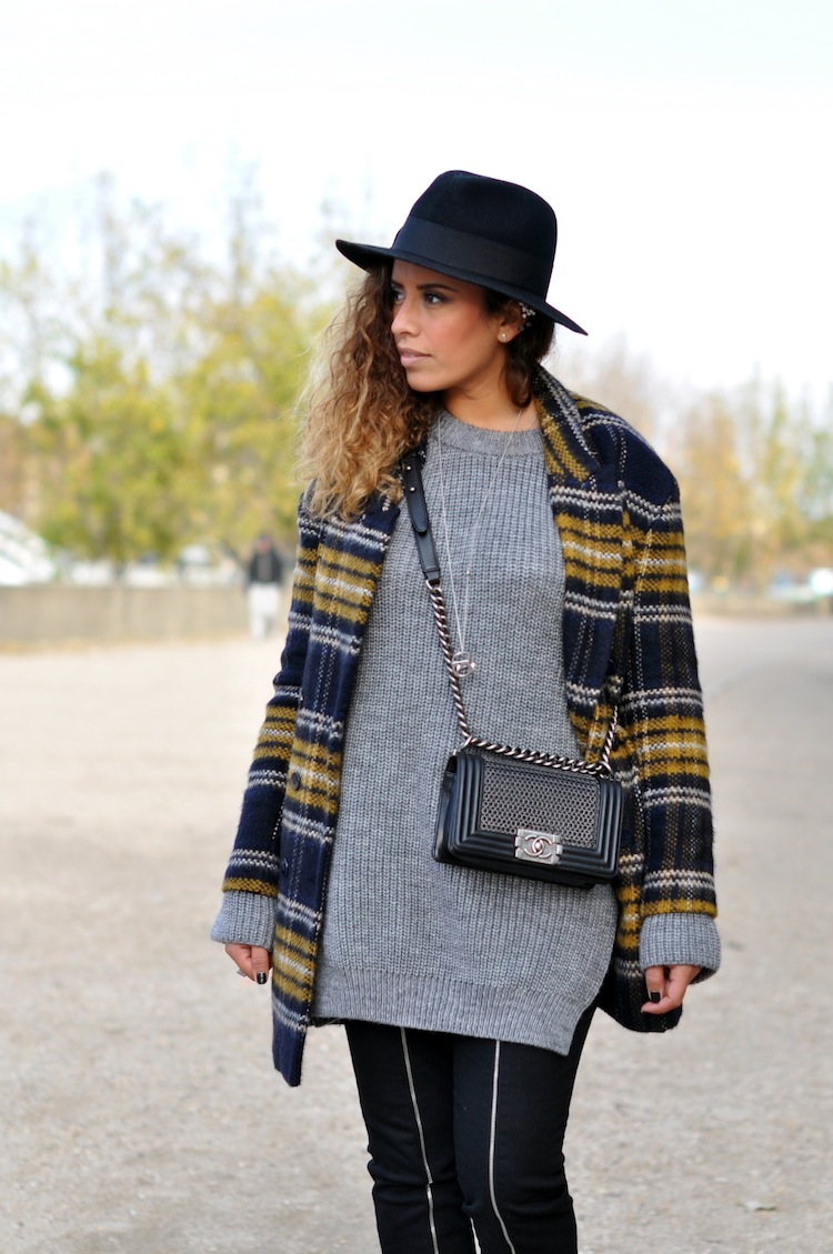 Le plaid coat | LovaLinda x Zara x J Brand x Chanel x Morgan