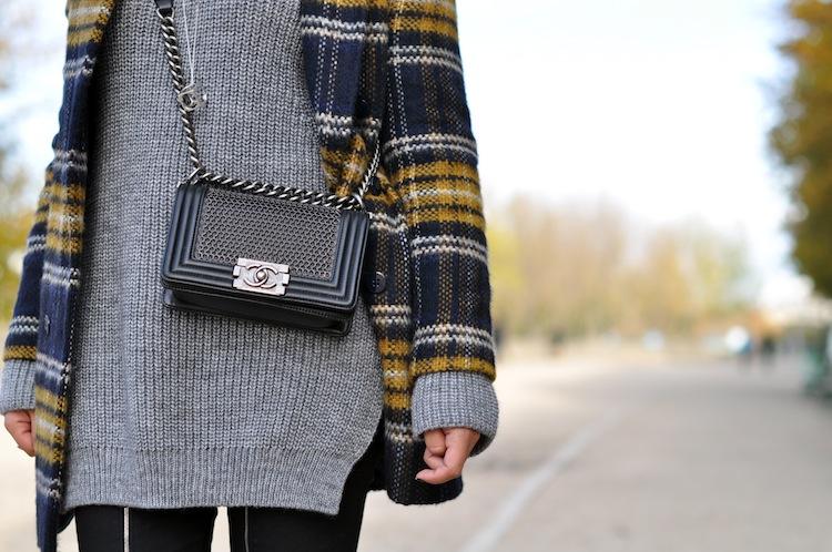 Le plaid coat | LovaLinda x Zara x J Brand x Chanel